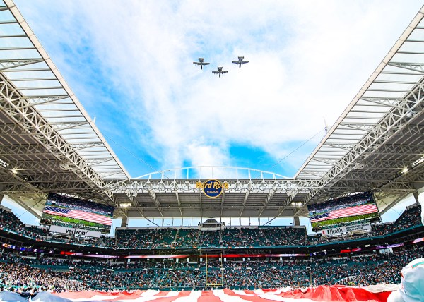 Military flyover | Baltimore Ravens vs. Miami Dolphins | September 8, 2019 | Hard Rock Stadium