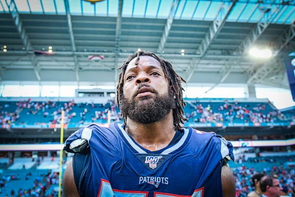 New England Patriots defensive end Michael Bennett #77 | New England Patriots vs. Miami Dolphins | September 15, 2019 | Hard Rock Stadium