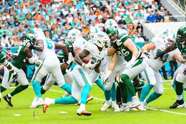 Miami Dolphins running back Kalen Ballage