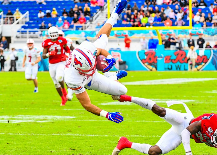 Southern Methodist Mustangs tight end Kylen Granson