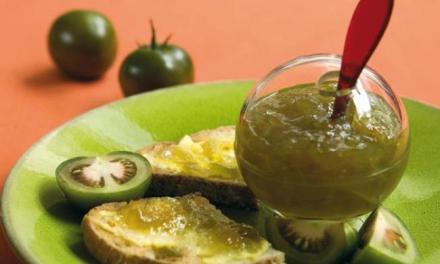 la confiture de tomates vertes et potiron