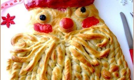 Père Noël en pâte à pain
