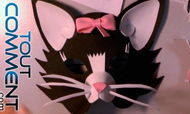 Comment faire un masque de Chat ?