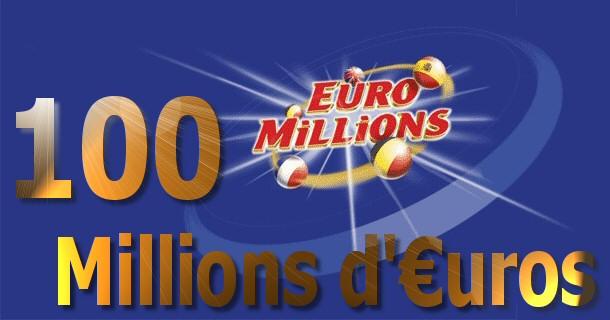 Un personne en Europe gagne 100 millions d'euros à l'Euromillion!