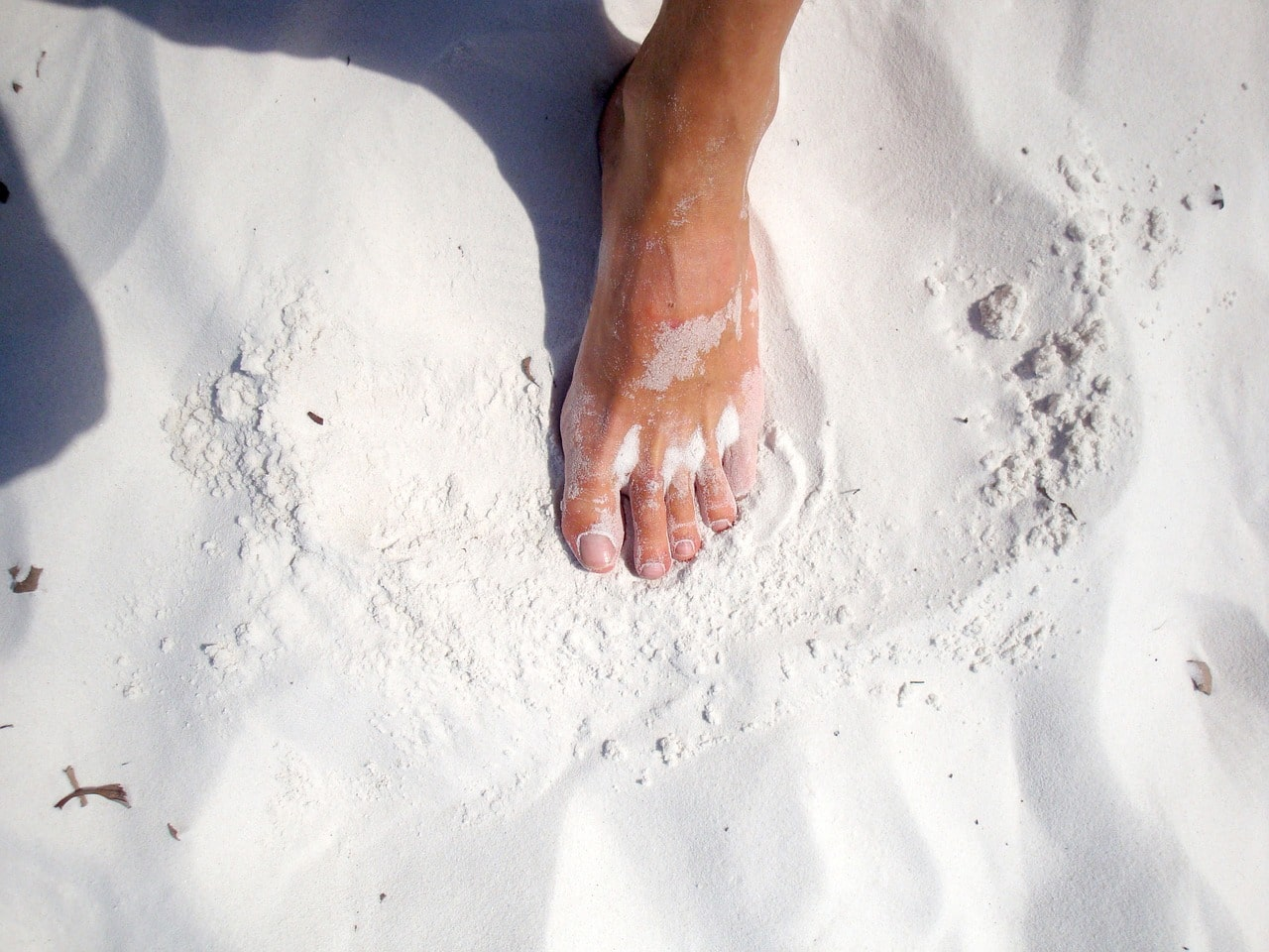 gommage des pieds naturel
