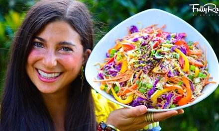 Salade Thai crue & vegan épicée au sésame!