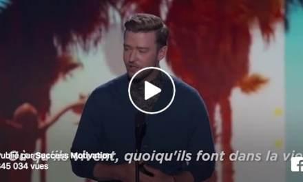 Discours inspirant de Justin Timberlake