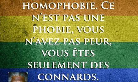 L'homophobie…
