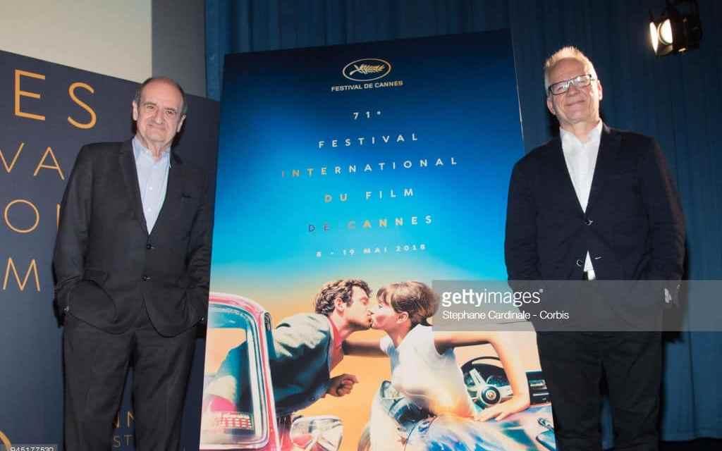 Installation de l'affiche du festival de Cannes. Les jours Glamour….c'est maintenant!
