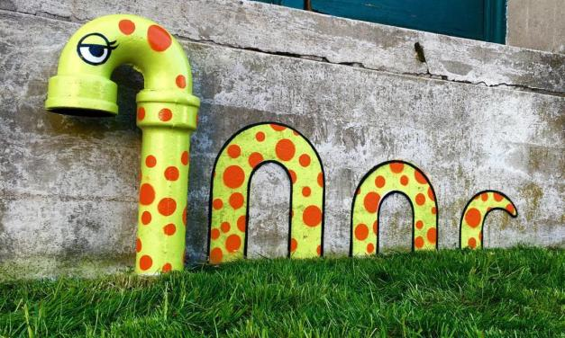Quand le street-artist Tom Bob détourne des éléments urbains.