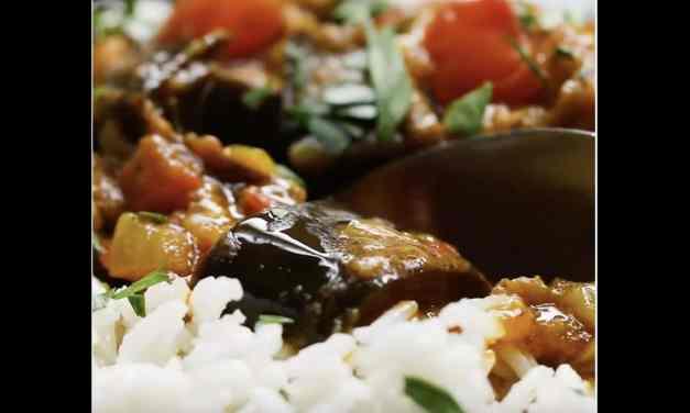 Recette: Curry d'aubergines rôties