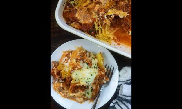 Gratin de spaghetti de courge