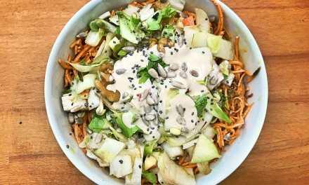 Salade automnale d'endives et de patate douce râpée