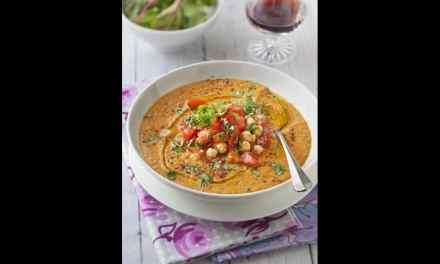 Velouté tomates, lentilles, pois chiches