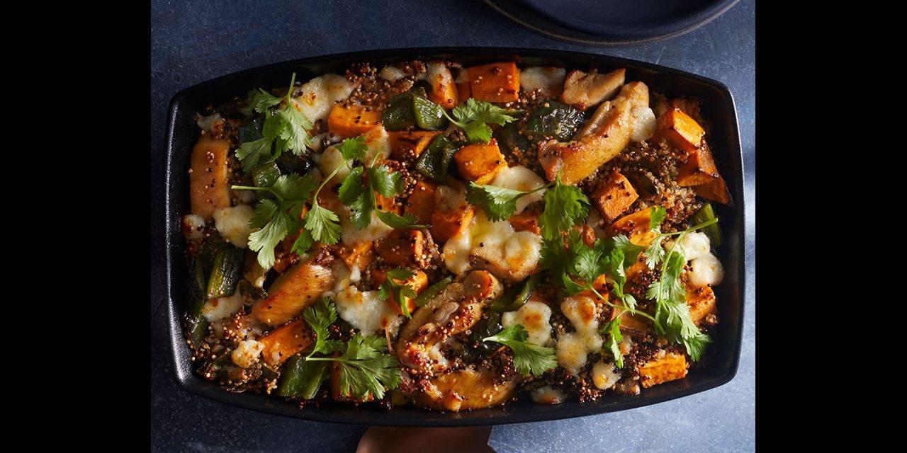 Casserole de poulet, quinoa et patates douces