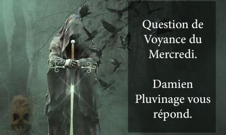 RÉPONSE DE DAMIEN PLUVINAGE À LA QUESTION DE VOYANCE OFFERTE DU 20 MARS 2019. GAGNANT: Quentin