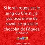 Chocolat de Pâques.