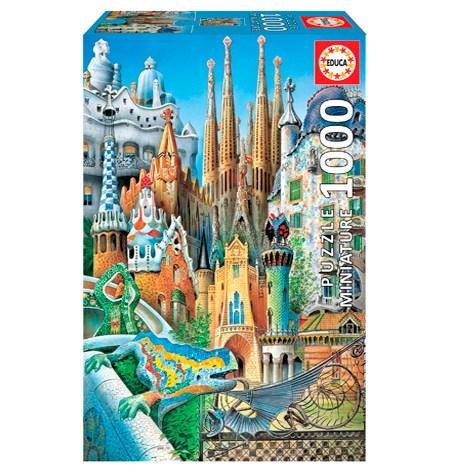 Puzzle 1000 MINI – Collage de Gaudí – Educa