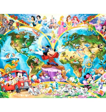 Puzzle 1000 – DISNEY – Mapamundi Disney – Ravensburger – Ravensburger