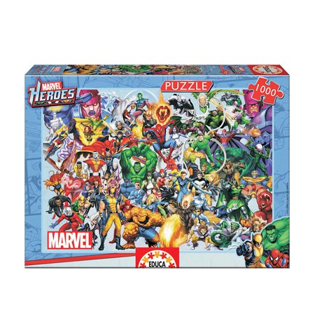 Puzzle 1000 – MARVEL – Héroes de Marvel – Educa