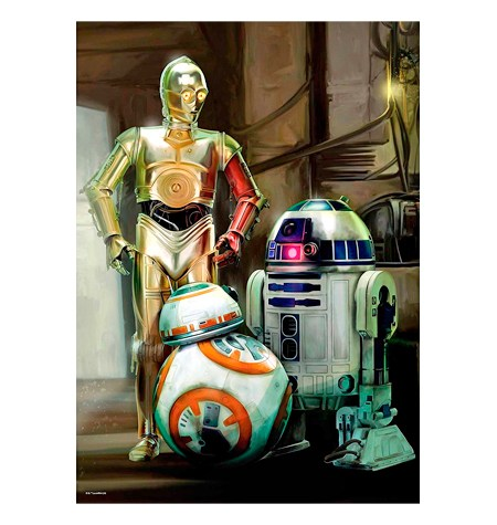 Puzzle 1000 – STAR WARS – C3PO, R2D2 y BB8 – Ravensburger