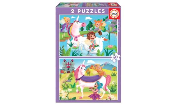 Puzzle 2×20 Unicornios y Hadas – Educa