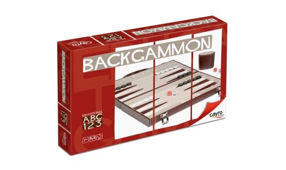 Backgammon Mediano Fieltro Marrón/Blanco