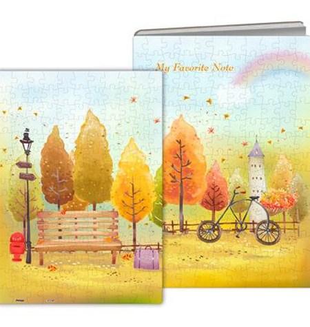 Puzzle CUADERNO – 329 Piezas de Plástico – Colorful Autumn – Pintoo