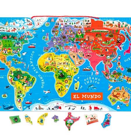 El Mundo Magnético Puzzle de Madera – 92 Piezas