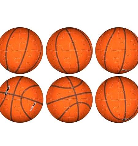Puzzle LLAVERO – 24 Piezas de Plástico – Baloncesto – Pintoo