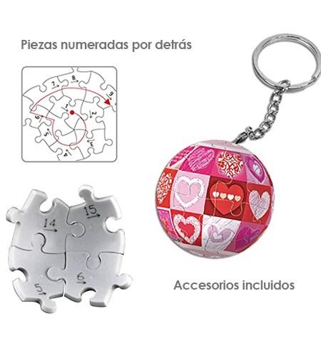 Puzzle LLAVERO – 24 Piezas de Plástico – Corazones – Pintoo