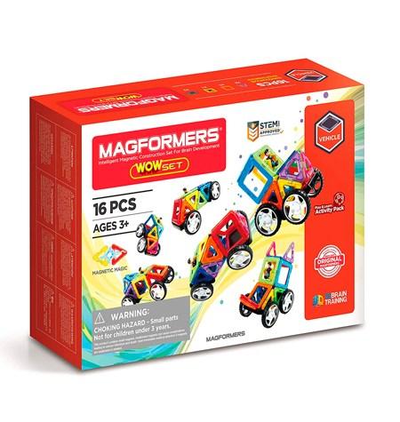 Magformers 16 piezas WOW SET Ruedas