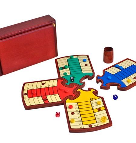 Parchís PUZZLE 4 jugadores – Caja de Madera