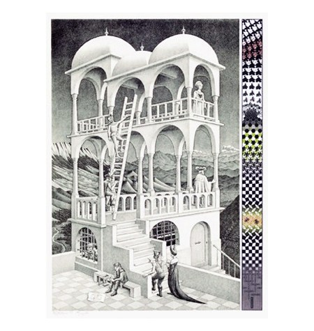 Puzzle 1000 B/N ESCHER – Belvedere – Puzzelman