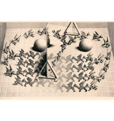 Puzzle 1000 B/N ESCHER – Espejo Mágico – Puzzelman