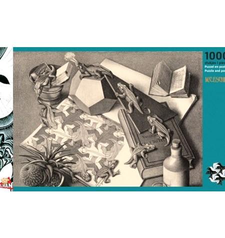 Puzzle 1000 B/N ESCHER – Repitiles – Puzzelman