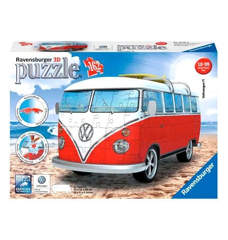 Puzzle 3D – 162 Furgoneta Volkswagen Roja – Ravensburger