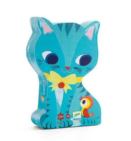 Puzzle 24 SILUETA Gato – Djeco