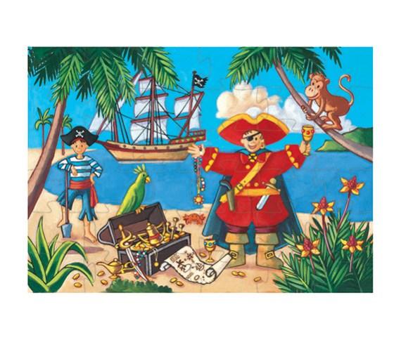 Puzzle 36 SILUETA Pirata – Djeco