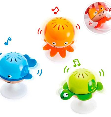 Set de 3 Sonajeros de Animales con Ventosa