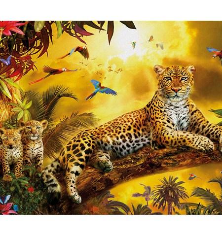 Puzzle 500 Leopardo con sus Cachorros – Educa