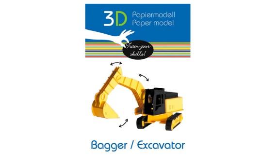Paper Model – Vehículo Pala Excavadora