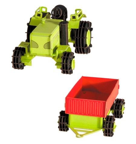 Paper Model – Vehículo Tractor con Remolque