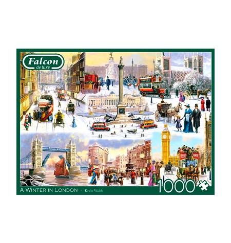 Puzzle 1000 A winter in London – Falcon