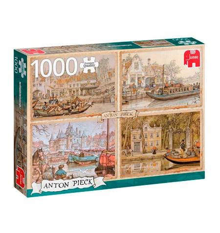 Puzzle 1000 ANTON PIECK – Barcos en Canales – Jumbo