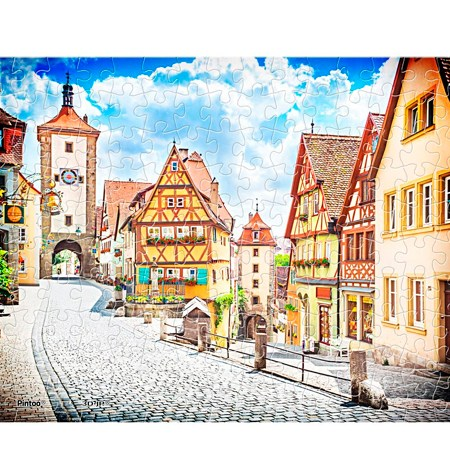 Puzzle 150 MINI – Piezas de Plástico – The Beautiful view of Rothenburg – Pintoo
