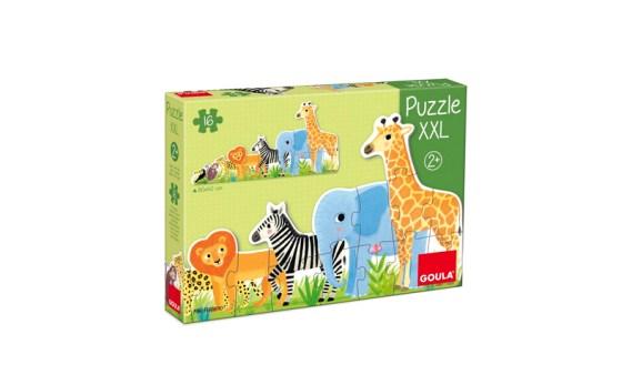Puzzle 16 Animales Selva de Pequeño a Grande – Goula
