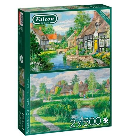 Puzzle 2×500 Riverside Cottages – Falcon