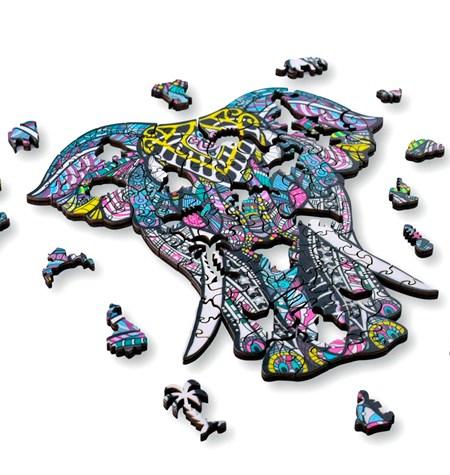 Puzzle 124 Madera MD – Elefante – Aniwood