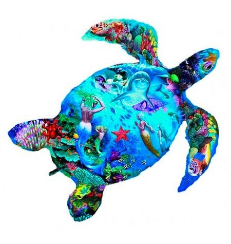 Puzzle 80 Madera – SILUETA Tortuga